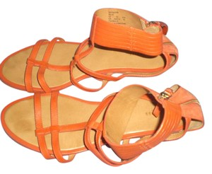 Coach Leather orange Sandals