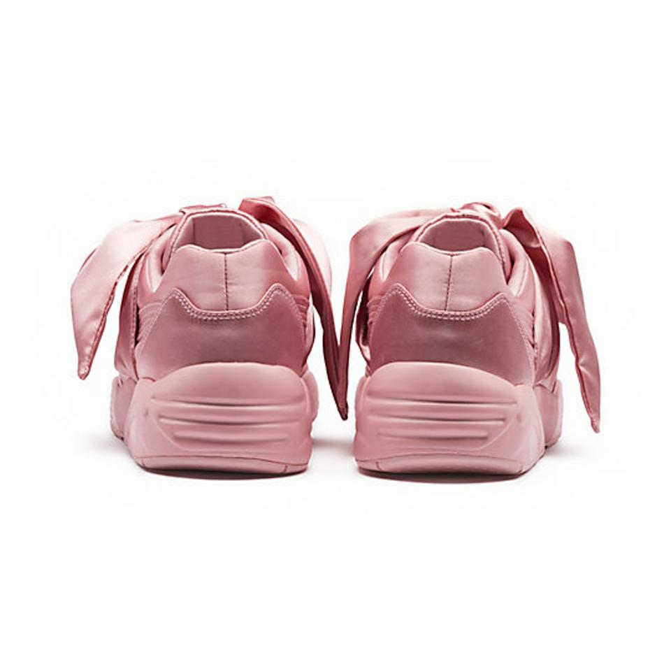 separation shoes 83511 45c93 Puma Pink New Rihanna Fenty Bow Silver Sneakers Size US 8.5