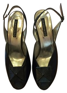 Claudia Ciuti Stiletto Patent Leather Black Formal