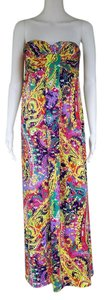 Multi-color Maxi Dress by Gianni Bini Maxi Paisley Strapless Colorful