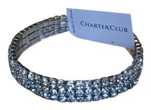 Charter Club stretchy triple band crystal bracelet