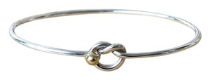 Tiffany & Co. Tiffany & Co Sterling Silver 18k Gold Love Knot Bangle