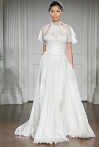 Peter Langner Peter Langner Gown With Guipure Lace & Knotted Detailing Wedding Dress
