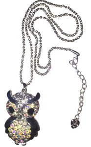 Betsey Johnson Adorable Owl w/ Embellished Opalescent Crystals