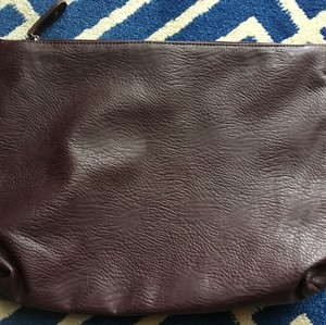 Free People Case Makeup Beauty Carryall Vegan Brown Clutch