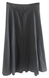 Elie Tahari Wool Skirt Charcoal Gray