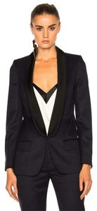Stella McCartney Melissa Wool Tuxedo Blue Blazer