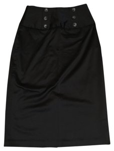 IZ Byer California Satin Pencil Skirt Black