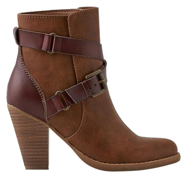 Item - Brown Buckle Heeled Boots/Booties Size US 11 Regular (M, B)
