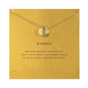 Other DF11 Karma 3 Circle Gold Necklace & Card