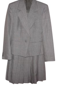 Barrie Pace Ladies Business Skirt Suit Classic Gray 2pc Pleated Skirt Professional