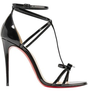 Christian Louboutin Blakissima 85mm Red Sole black Sandals