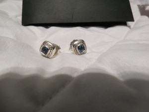 David Yurman Color Classics Hampton Blue Topaz SS Earrings