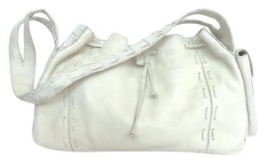 Nancy Gonzalez Ivory Crocodile Leather Handmade Shoulder Bag