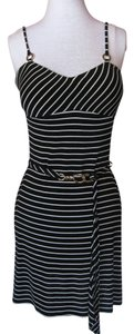 Cache short dress Black & white stripe Summer on Tradesy