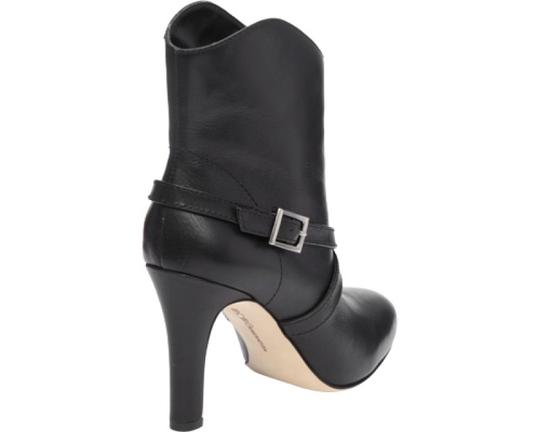 BCBGeneration Leather Buckle Ankle Black Boots