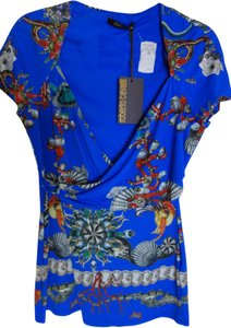 Roberto Cavalli Top bright blue