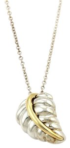 Tiffany & Co. Tiffany & Co. 925 Silver 18k Yellow Gold Nature Leaf Pendant Necklace