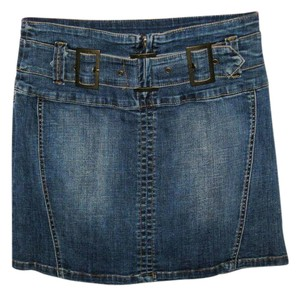 Cache Bluejean Stretch Mini Skirt Denim