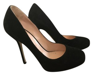 Sergio Rossi Suede Black Pumps