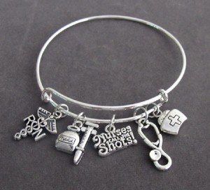 Fashion Jewelry For Everyone Silver Nurses Call The Shots Bangle Nurse Graduation Gift Bracelet