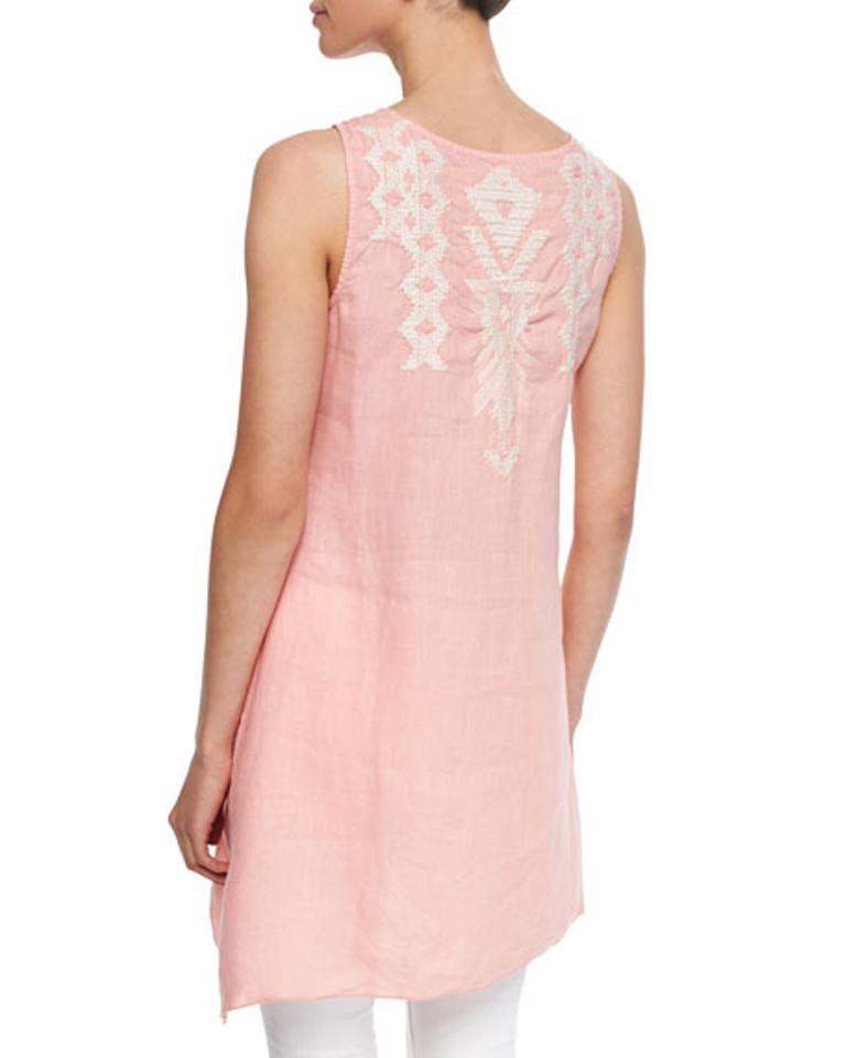a6aeff22c7 Johnny Was short dress pink Tunic Linen Sleeveless Embroidered Bohemian on  Tradesy Image 10. 1234567891011