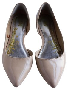 Nina Shoes Three Tones Silver Pump Evening Nude Flats