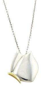 Tiffany & Co. Tiffany & Co. Sterling Silver & 18k Yellow Butterfly Pendant Necklace