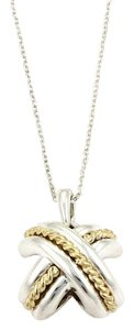 Tiffany & Co. Tiffany & Co.Signature X Crossover 18k Yellow Gold 925 Silver Necklace