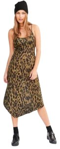Silence + Noise short dress Green Printed + Urban Outfitters Leopard Olive Green on Tradesy