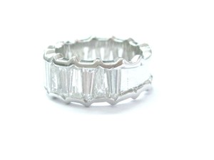 Other Platinum Taper Baguette Cut Diamond Band Ring 21-Stone Sz 5.75 5.50Ct