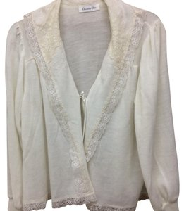 Dior Vintage Christian Bed Jacket Night Wear Bed Jacket Cardigan