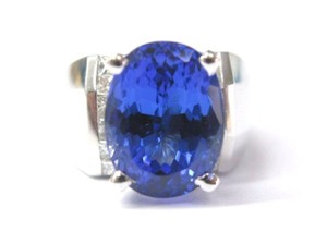 Other Fine 18KT Gem Tanzanite Diamond Anniversary Ring 8.90CT