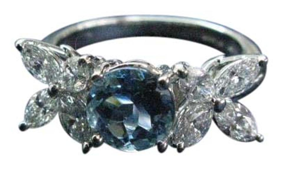 b486ee20c Tiffany & Co. G Aquamarine Co Platinum Victoria Diamond 2.32ct Pt950 Ring