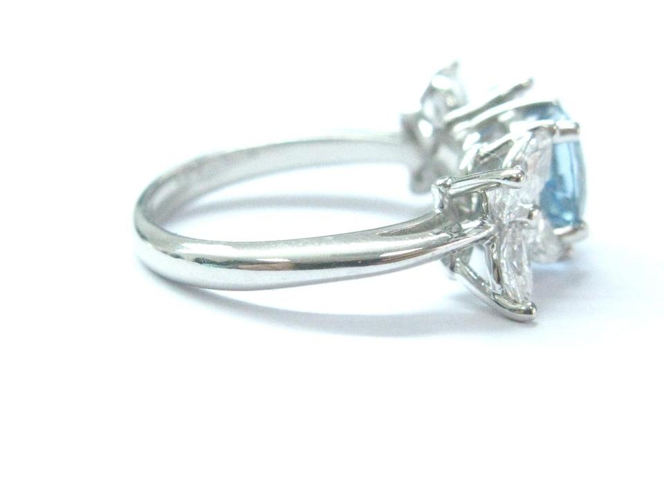 c066f7ad2 Tiffany & Co Platinum Victoria Diamond Aquamarine Ring 2.32CT PT950 Image.  12345678