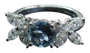 Tiffany & Co. Tiffany & Co Platinum Victoria Diamond Aquamarine Ring 2.32CT PT950