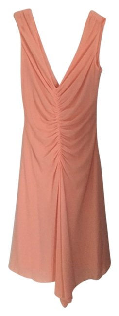 Laundry by Shelli Segal Rouched V-neck Sleeveless Wedding Cocktail Dress