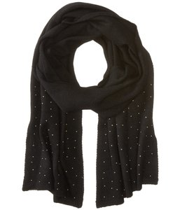 Vera Bradley Micro-Stud Knit Scarf, Black with Gold Tone