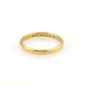 Tiffany & Co. Tiffany & Co. 18k Yellow Gold 2mm Plain Dome Wedding Band Ring Size 4