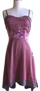 Free People short dress Mauve Satin Floral on Tradesy
