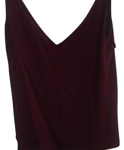 MILLY Top oxblood/burgundy
