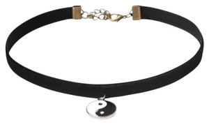 Other Black Velvet Ying Yang Choker