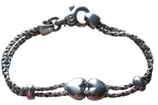 Tiffany & Co. Authentic Tiffany Sterling Silver Double Heart Rope Bracelet