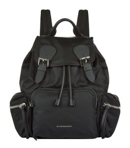Burberry Nylon Leather Brit Backpack