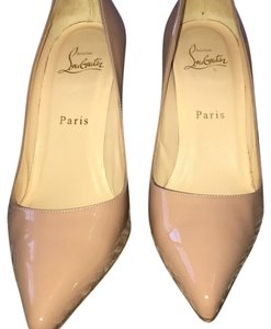 Christian Louboutin patent nude Pumps