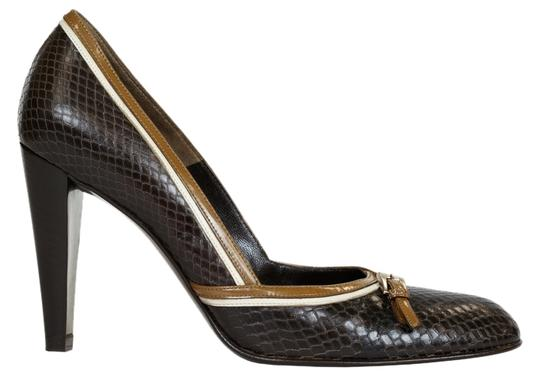 Prada Heels Leather Brown Pumps