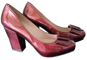 Pura Lopez Patent Leather Red Pumps