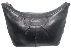 Coach Black Leather Clutch Cosmetic Bag Travel Clutch
