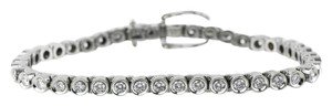 Diamond Bracelet *14K Ladies 4.20 Total Carat Weight Diamond White Gold Tennis Bracelet