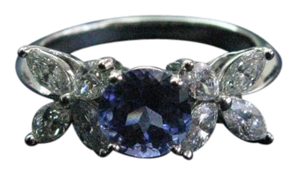 f78345857 Tiffany & Co. G Co Platinum Victoria Diamond Tanzanite 2.26ct Pt950 Ring